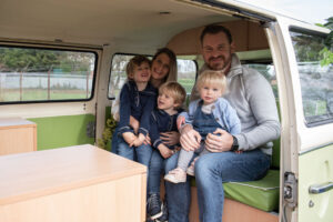 Family photoshoot experience VW Camper gift vouchers
