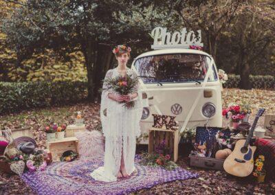 Cream campervan photobooth surrey