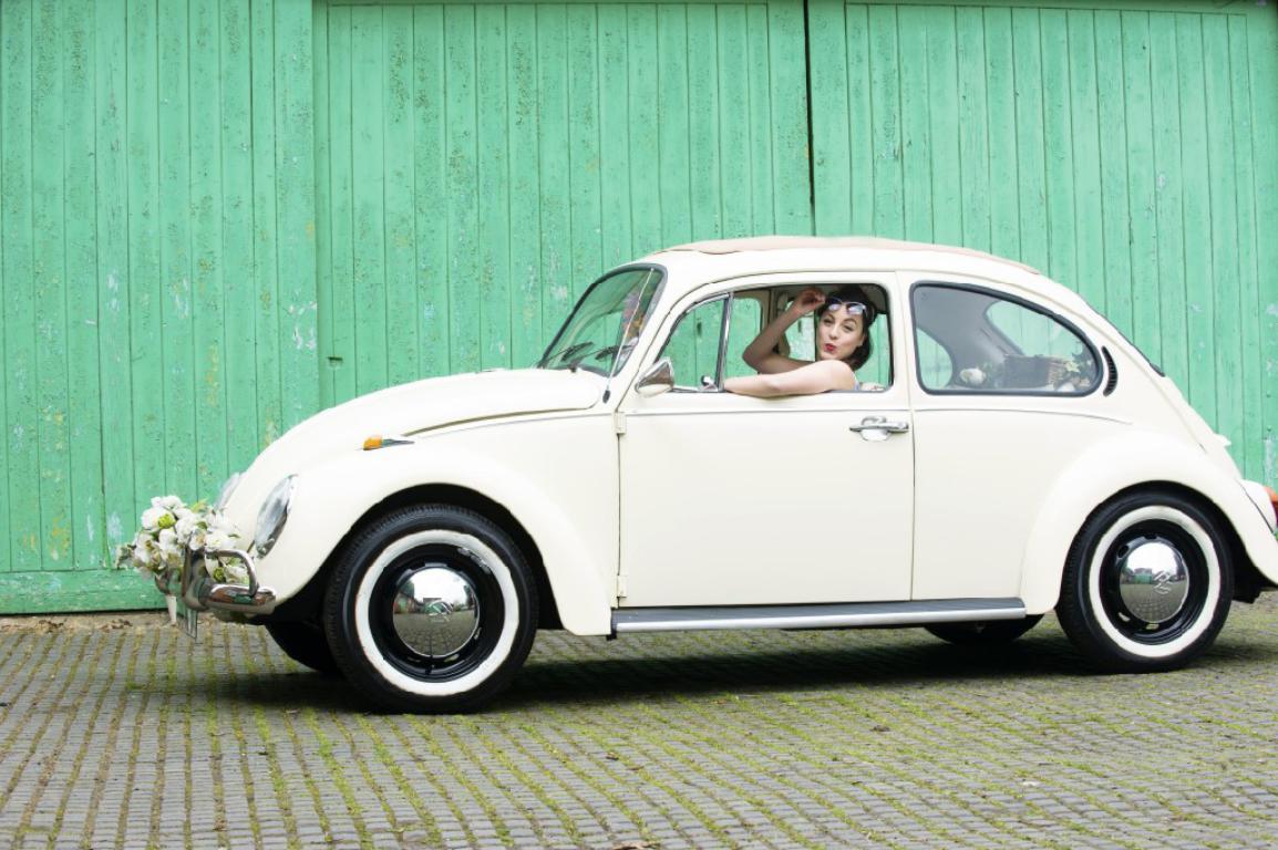 VW Beetle wedding car London