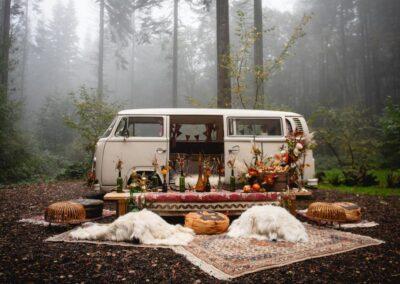boho wedding campervan hire