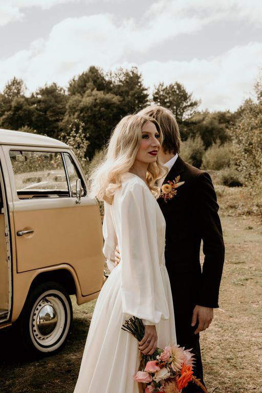 bumble the campervan wedding car
