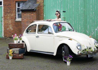 Buttercup Bus Vintage Campers VW Beetle wedding car hire