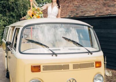 campervan hire with sunroof and balloons