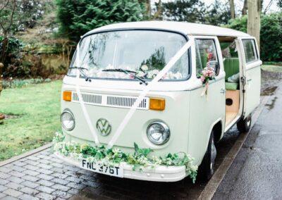 campervan wedding car in surrey