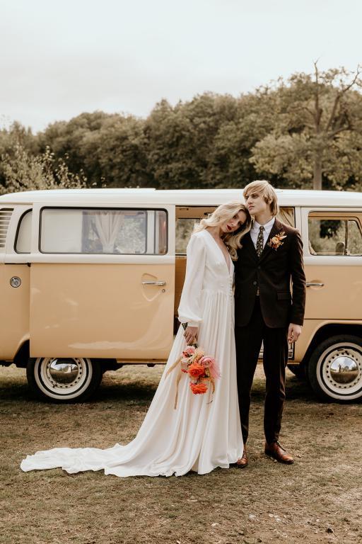 bumble the wedding campervan