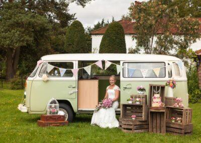 campervan wedding car surrey