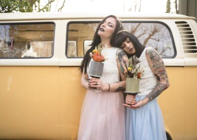 campervan wedding quirky uk