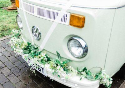 classic campervan wedding car in surrey
