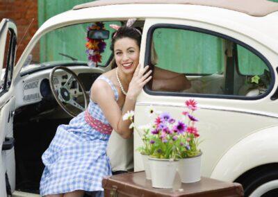 classic style vw beetle wedding car