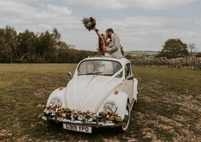convertible wedding car hire surrey