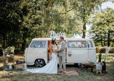 cream campervan photobooth hire