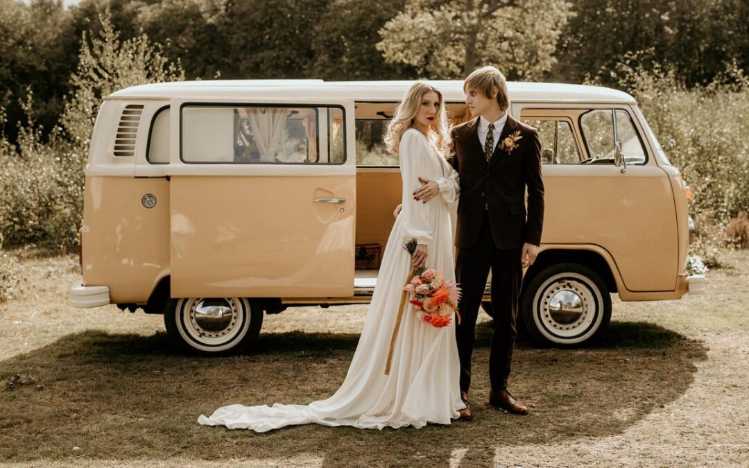Bumble dating app meets Bumble the wedding campervan