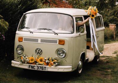 hippy campervan wedding car hire london