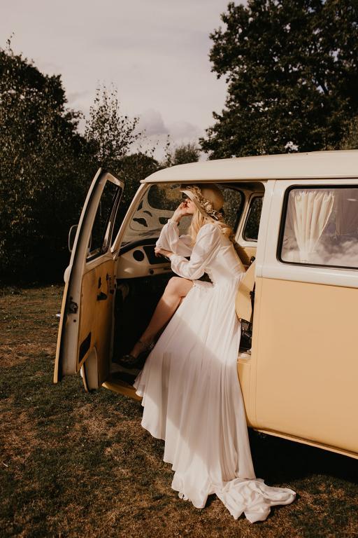boho campervan wedding