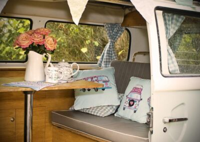 inside vw camper rental london