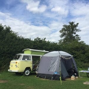 classic campervan hire london awning