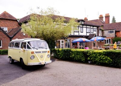 old style vw camper hire for wedding
