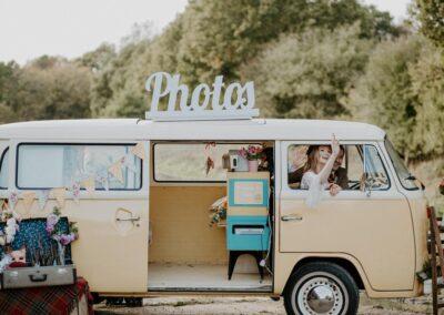 outdoor photobooth wedding campervan