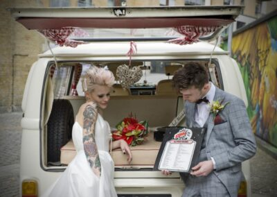 retro vw camper wedding car hire london