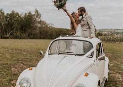 surrey wedding car hire vw beetle