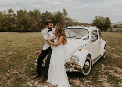 vw beetle wedding car kent