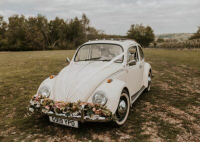 vw beetle wedding car rental surrey