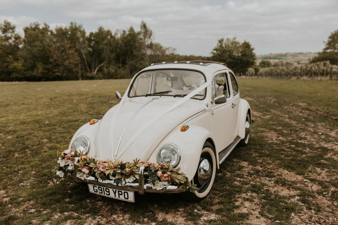 vw beetle wedding car rental surrey