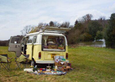 vw camper camping trip hire