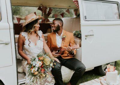 vw camper hire surrey wedding