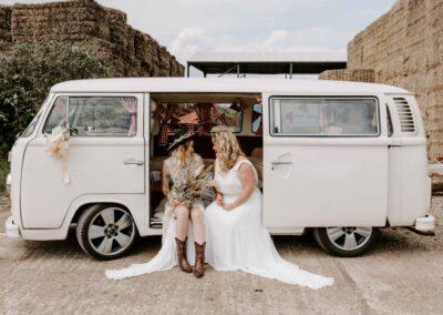 vw camper wedding car hire london