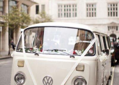 vw camper wedding car london
