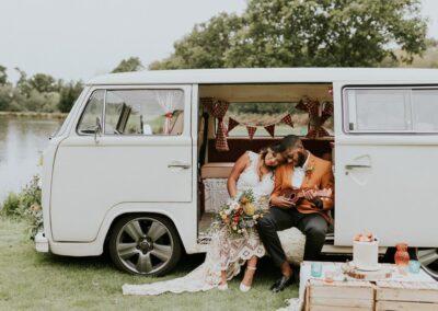 vw camper wedding transport sussex