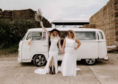 white campervan wedding car hire (2)