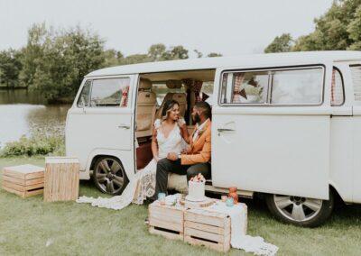 white campervan wedding car hire (3)