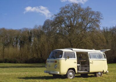 yellow classic campervan hire