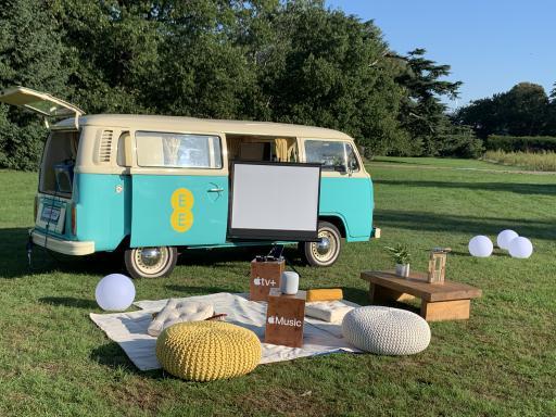 Branded campervan hire vinyl wrap