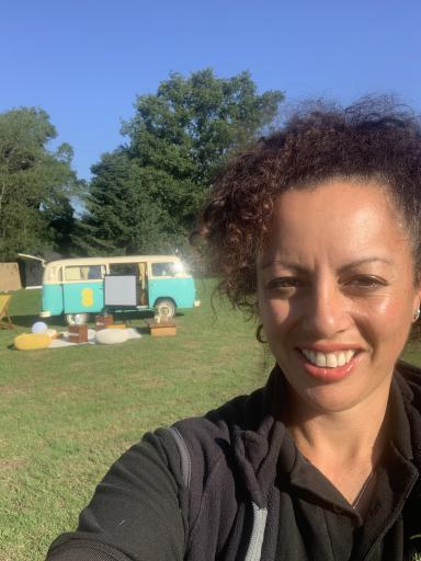 Nathalie branded campervan hire London