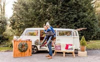 A campervan Xmas photoshoot at Nonsuch Mansion
