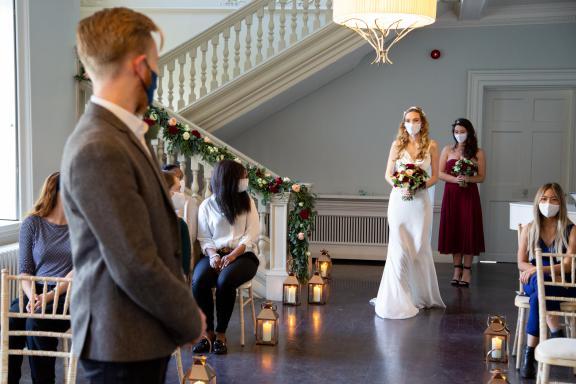 Morden Hall intimate wedding venue near London