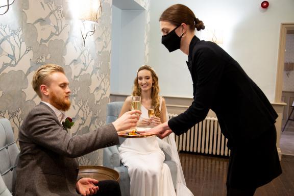 Morden Hall intimate wedding