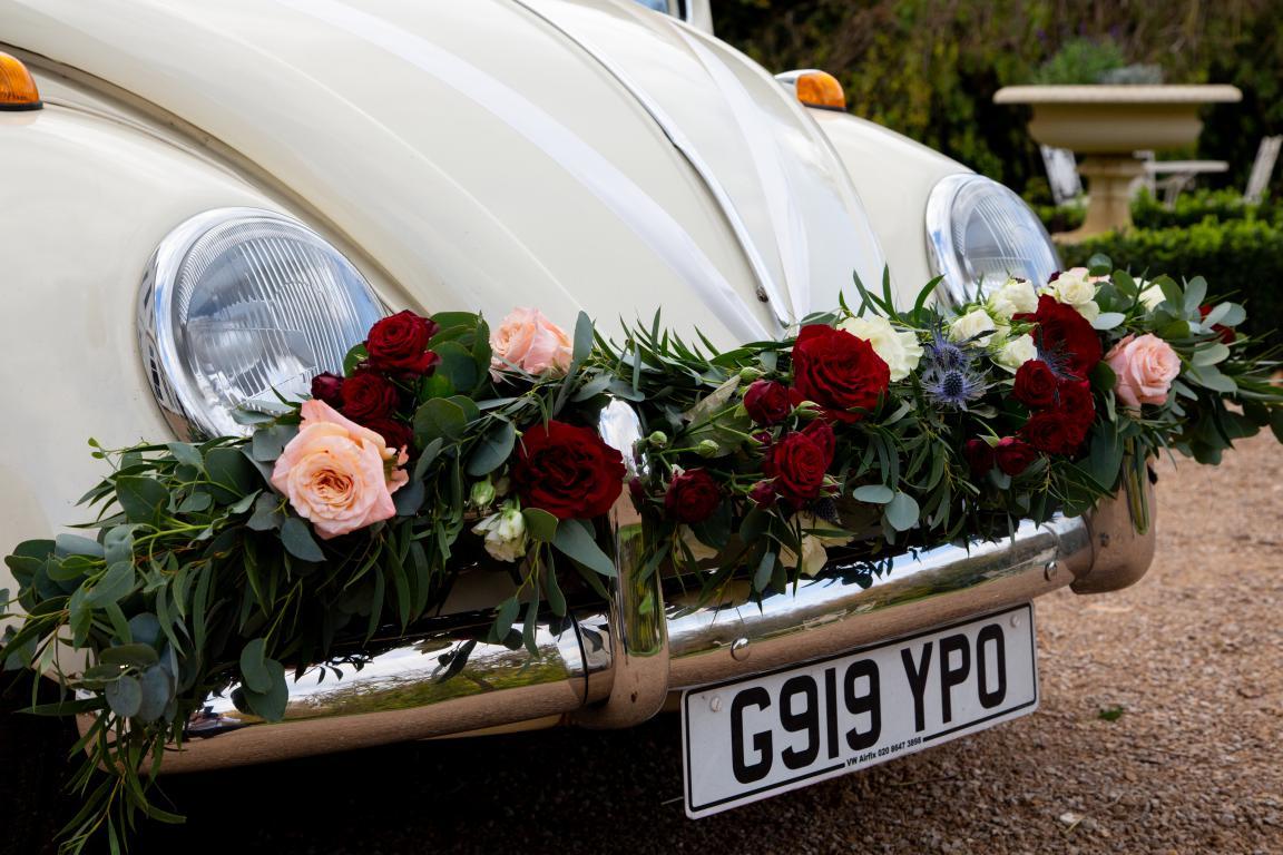 Morden Hall beetle wedding car buttercupbus