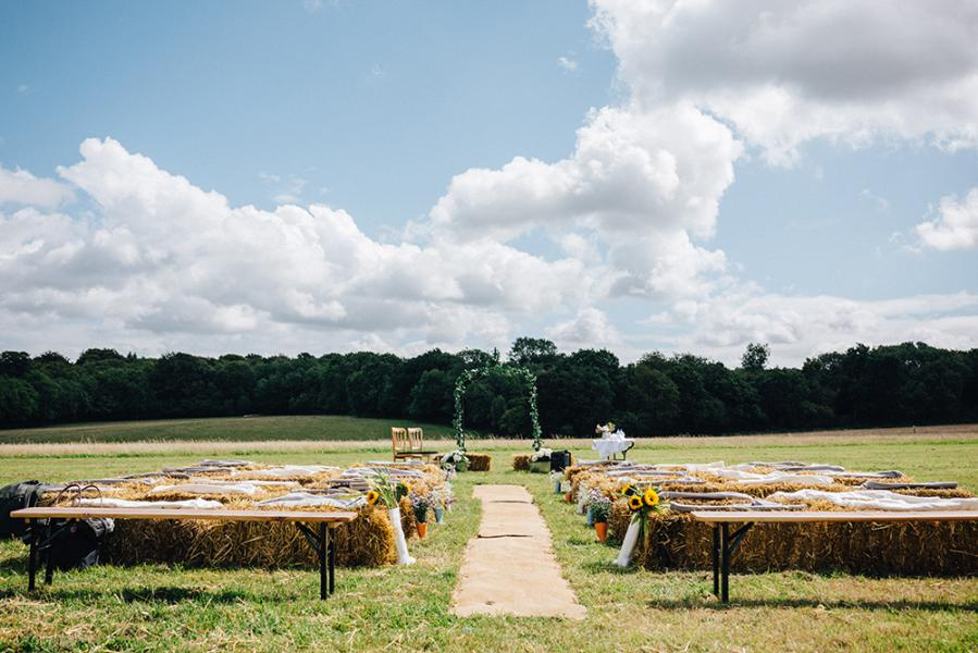 outdoor wedding ceremony Surrey Sussex