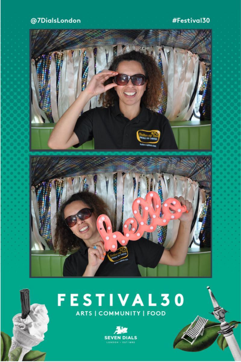 Campervan photobooth branded instant prints