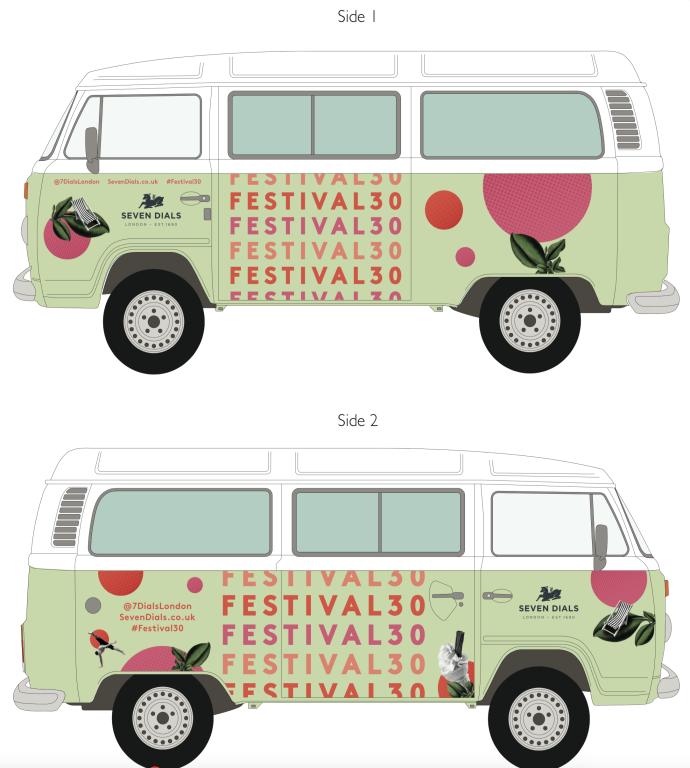 Photobooth campervan with branding